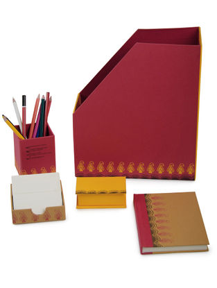 5 Elements Madhubani Office Stationery-Set of 5