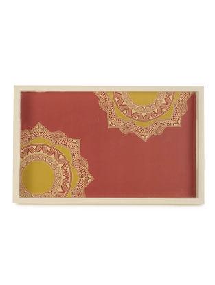 Chakra Madhubani Art Tray-Rectangle
