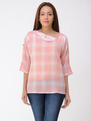 Peach-Ivory Cotton Top
