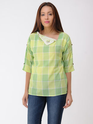 Green-Lime Cotton Top