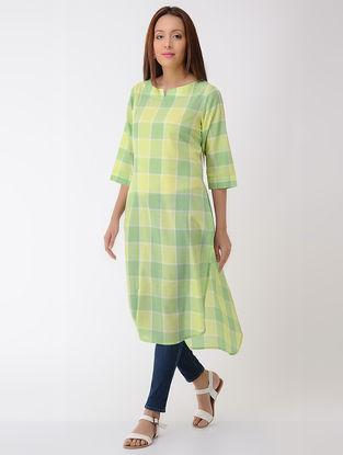 Green-Lime Cotton Kurta