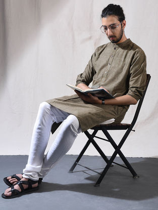 Green Silk Full Sleeve Kurta