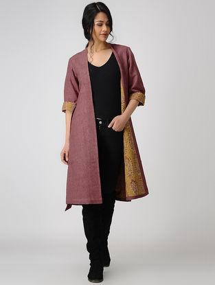 Pink Ajrakh-printed Silk Noil Jacket