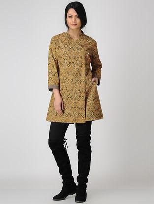 Mustard Kalamkari Cotton Jacket