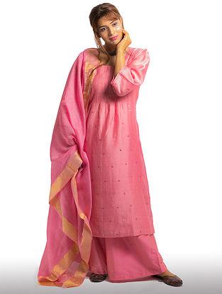 Pink Chanderi Dupatta