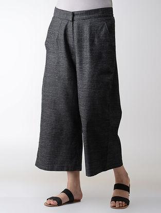 Charcoal Elasticated-waist Cotton Pants