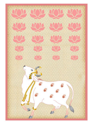 Pichwai Cow Art Print on Paper