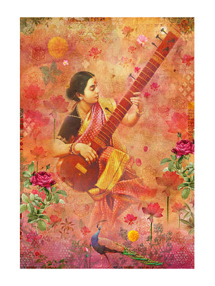 Saraswati Art Print on Paper