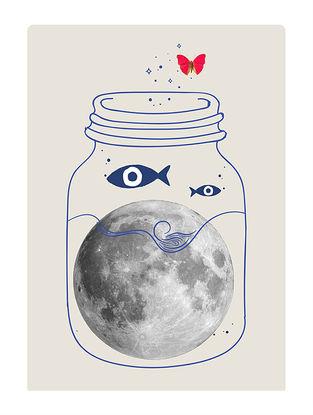 Moon Lover Art Print on Paper
