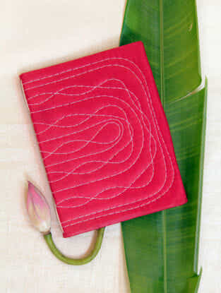 Red Handcrafted Bahi Khata Notebook