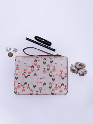Pink Digital Printed Wristlet with Tassel
