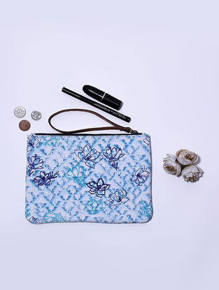 Blue Digital Printed Wristlet with Tassel