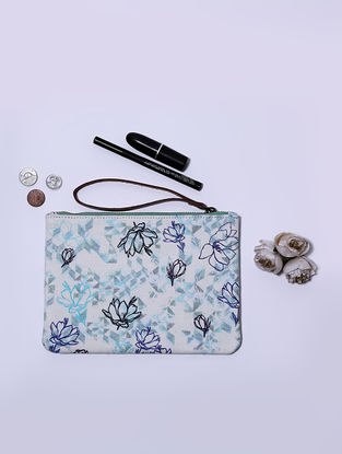Sea Green Digital Printed Wristlet with Tassel