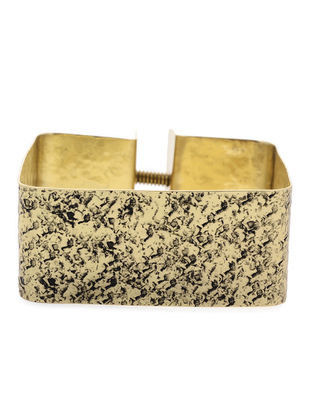 Hammered Gold Tone Brass Cuff