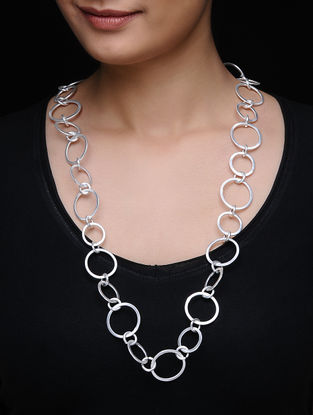 Silver Tone Brass Necklace