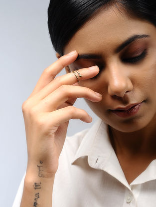 Classic Gold Tone Brass Adjustable Ring