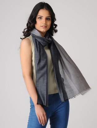 Grey Merino Silk Stole