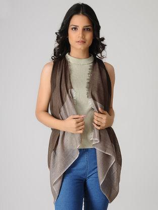 Brown Merino Silk Stole