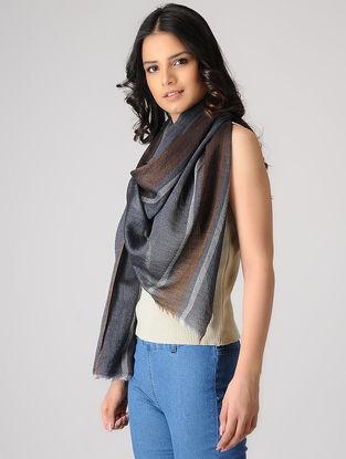 Grey-Brown Merino Silk Stole