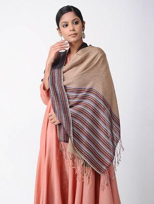 Beige-Pink Merino Wool-Silk Shawl