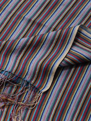 Multicolored Merino Wool-Silk Shawl