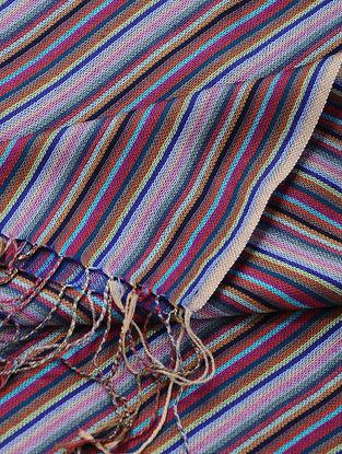Blue Merino Wool-Silk Shawl