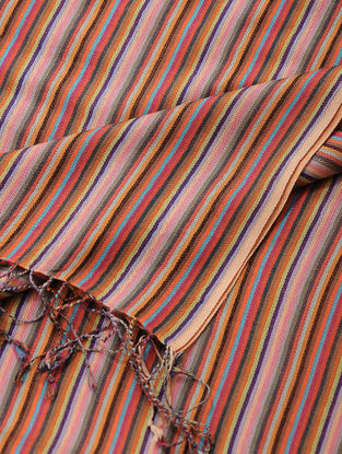 Peach-Pink Merino Wool-Silk Shawl