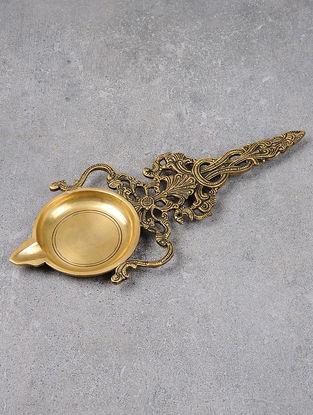 Brass Twin Sparrow Aarti 11.5in x 4.6in x 0.5in