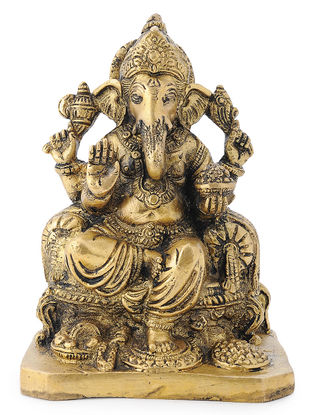 Brass Home Accent with Lord Ganesha Design