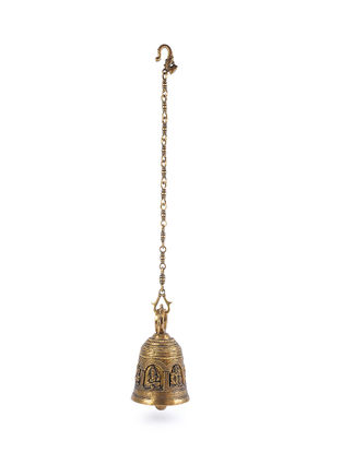 Brass Bell with Chain (L - 5.5in, W - 5.5in, H - 9.2in)