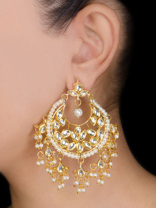 Kundan Jhalar Earrings