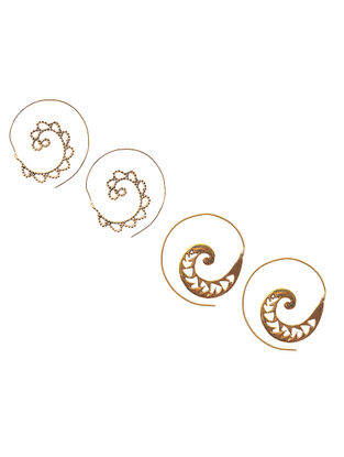 Classic Gold Tone Earrings (Set of 2)