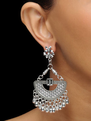 Classic Earrings with Floral Design