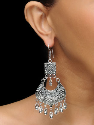 Classic Earrings with Floral Motif