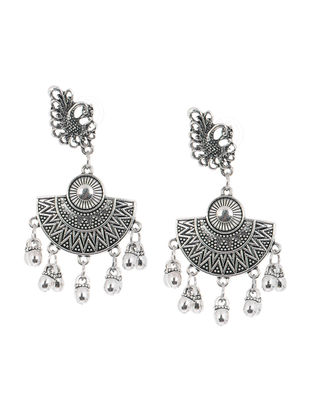 Classic Earrings with Peacock Design