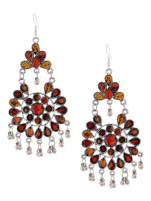 Yellow-Red Chandelier Earrings