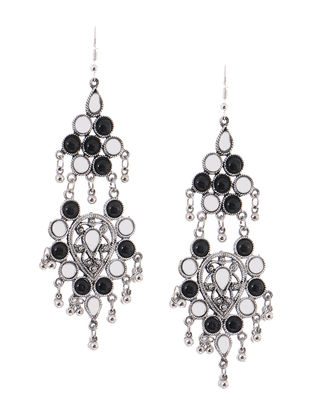 Classic White-Black Earrings