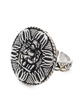 Silver Tone Adjustable Ring