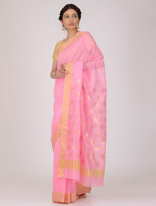 Pink Chanderi Saree with Zari
