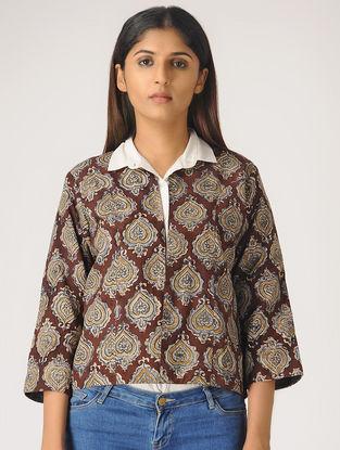 Brown Kalamkari Cotton Jacket