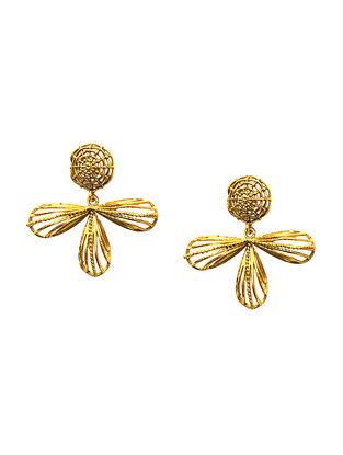 Aureate Foliage Gold-Plated Brass Earring