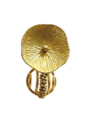 Gold-Plated Brass Adjustable Nail Ring