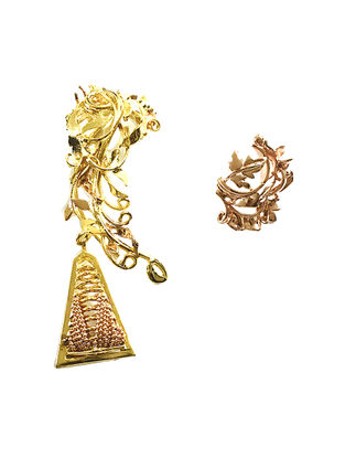 Flora Rose Gold-Plated Brass Earrings