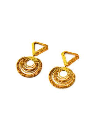 Aureate Triangle Gold-Plated Brass Earrings