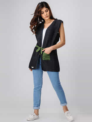 Charcoal Handwoven Cotton Jacket