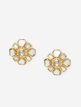 Gold Plated Brass Earrings