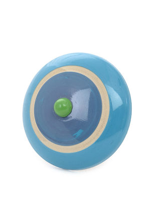 Blue-Green Adjustable Wood Ring