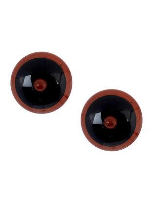 Black-Red Wood Earrings