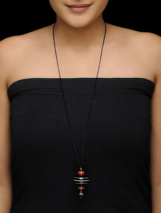 Black-Red Wood Necklace