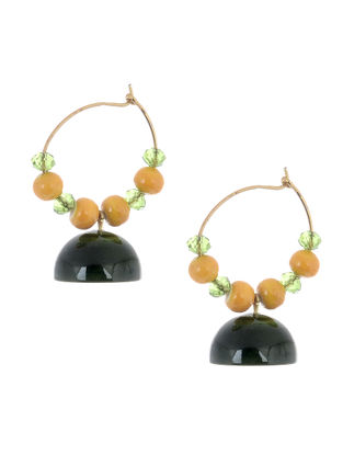 Yellow-Green Wood Earrings